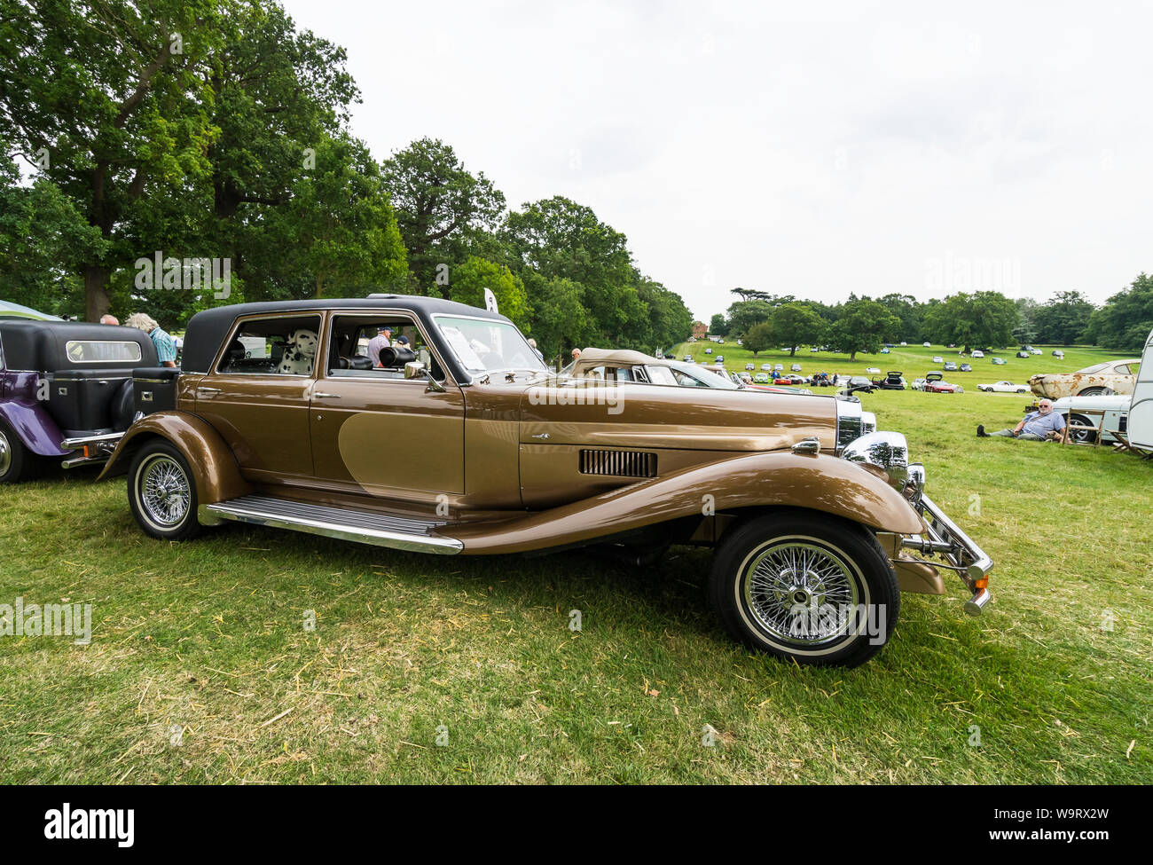 DeVille Panther saloon at The Helmingham Festival of Classic & Sports Cars 2019 Stock Photo
