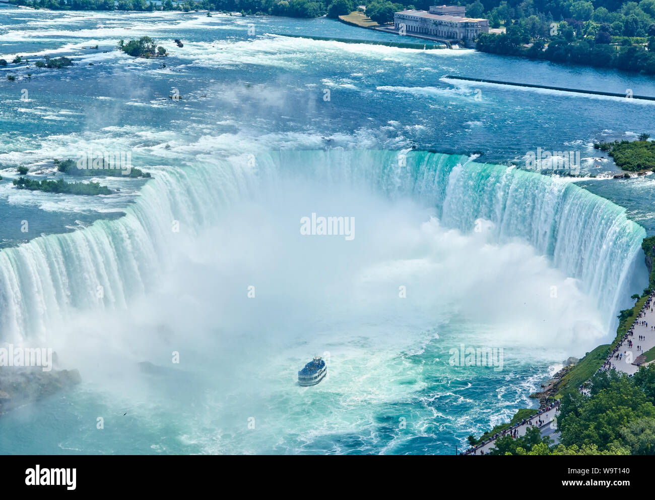 Beautiful Niagara Falls In Summer On A Clear Sunny Day View From Canadian Side Niagara Falls Ontario Canada Stock Photo Alamy