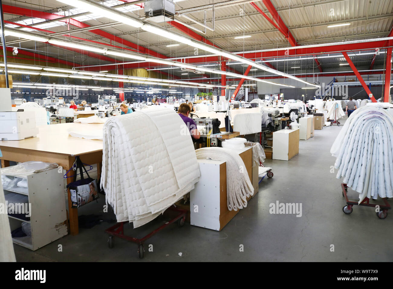 Weida Germany 15th Aug 2019 Sewing Assistants Produce Mattress Covers At Breckle Matratzenwerk Weida Gmbh Thuringia S Economics Minister W Tiefensee Spd Visited The Mattress Factory On 15 08 2019 Credit Bodo Schackow Dpa Zentralbild Dpa Alamy