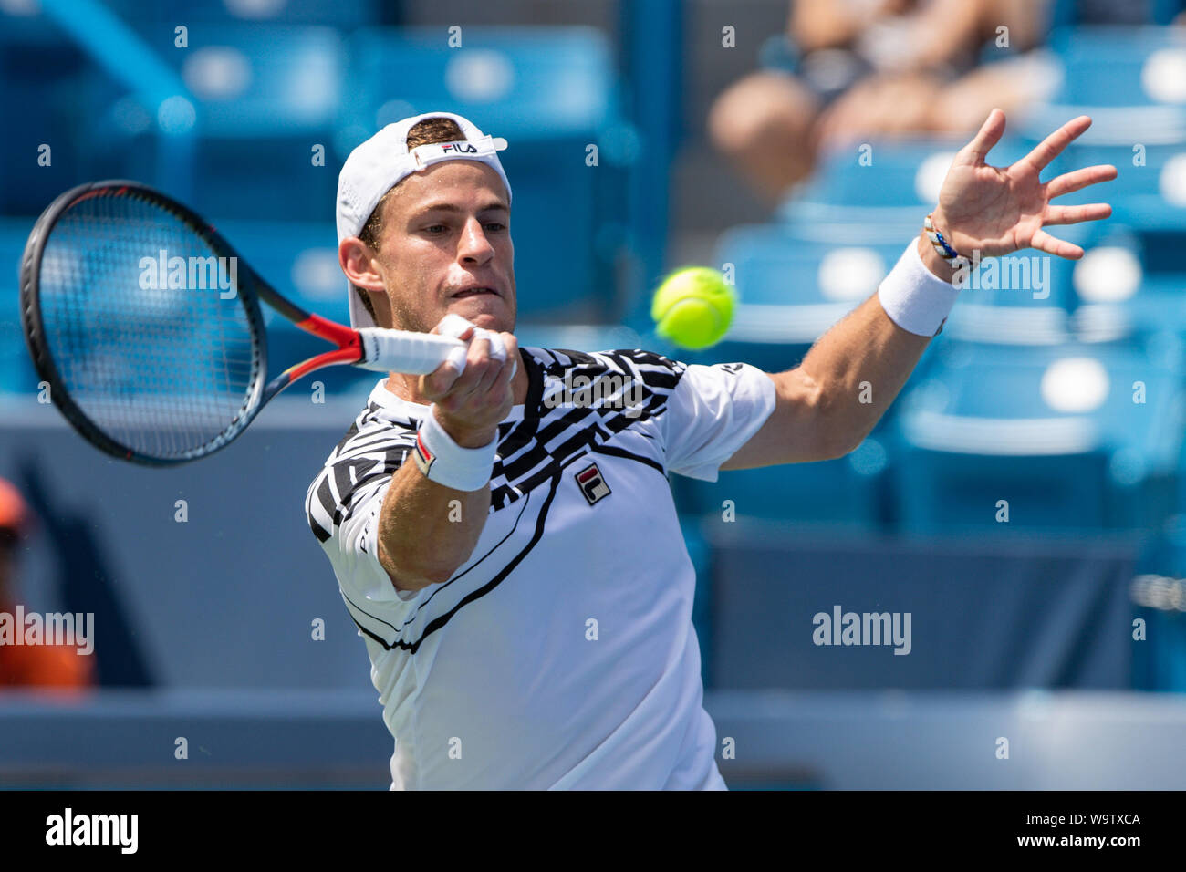 Mason Ohio Usa 15th Aug 2019 Diego Schwartzman Arg Hits A Forehand Shot During Thursday S Round