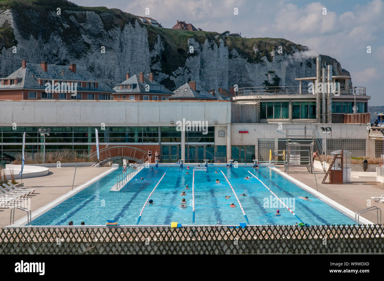 Immersion Piscines Et Spas public swimming pool in france stock photos & public