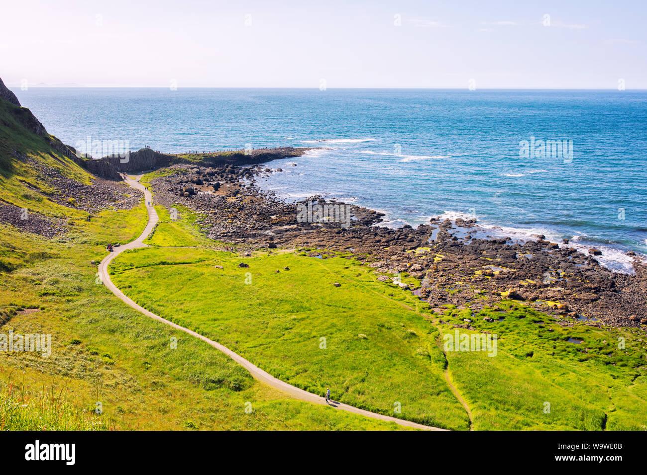 summer giants causeway coastline,Northern Ireland Stock Photo