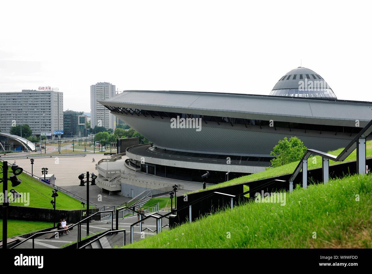 Katowice, Silesia, Slask, city,Sport arena in Katowice called Spodek, Silesia, Poland Stock Photo