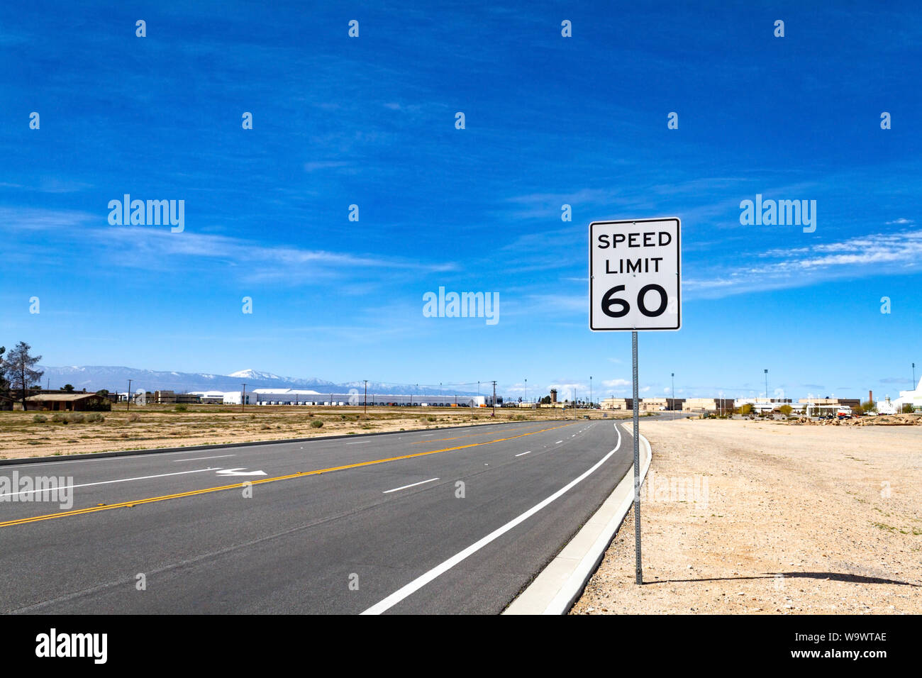 Speed Limit Sign 60 Stock Photos & Speed Limit Sign 60 Stock