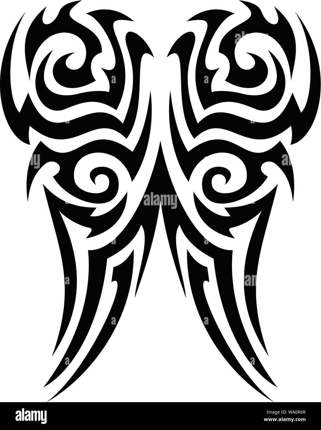 Tribal Tattoo Vector Design Stock Vector Image Art Alamy Download free tattoo vectors and other types of tattoo graphics and clipart at freevector.com! https www alamy com tribal tattoo vector design image264320303 html