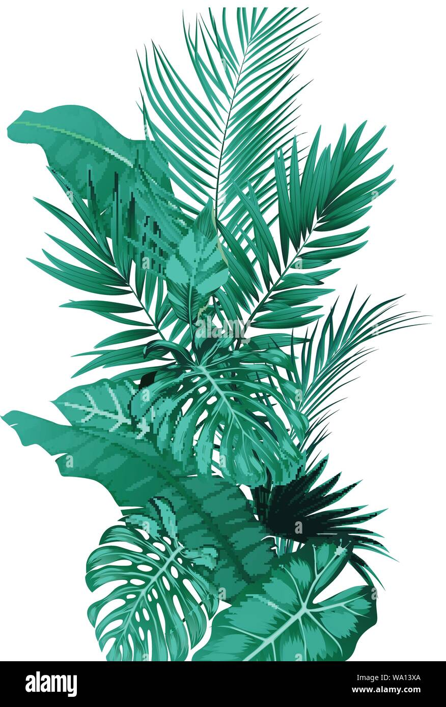 Tropical Leaves Forest Background Stock Vector Image Art Alamy 116,000+ vectors, stock photos & psd files. alamy