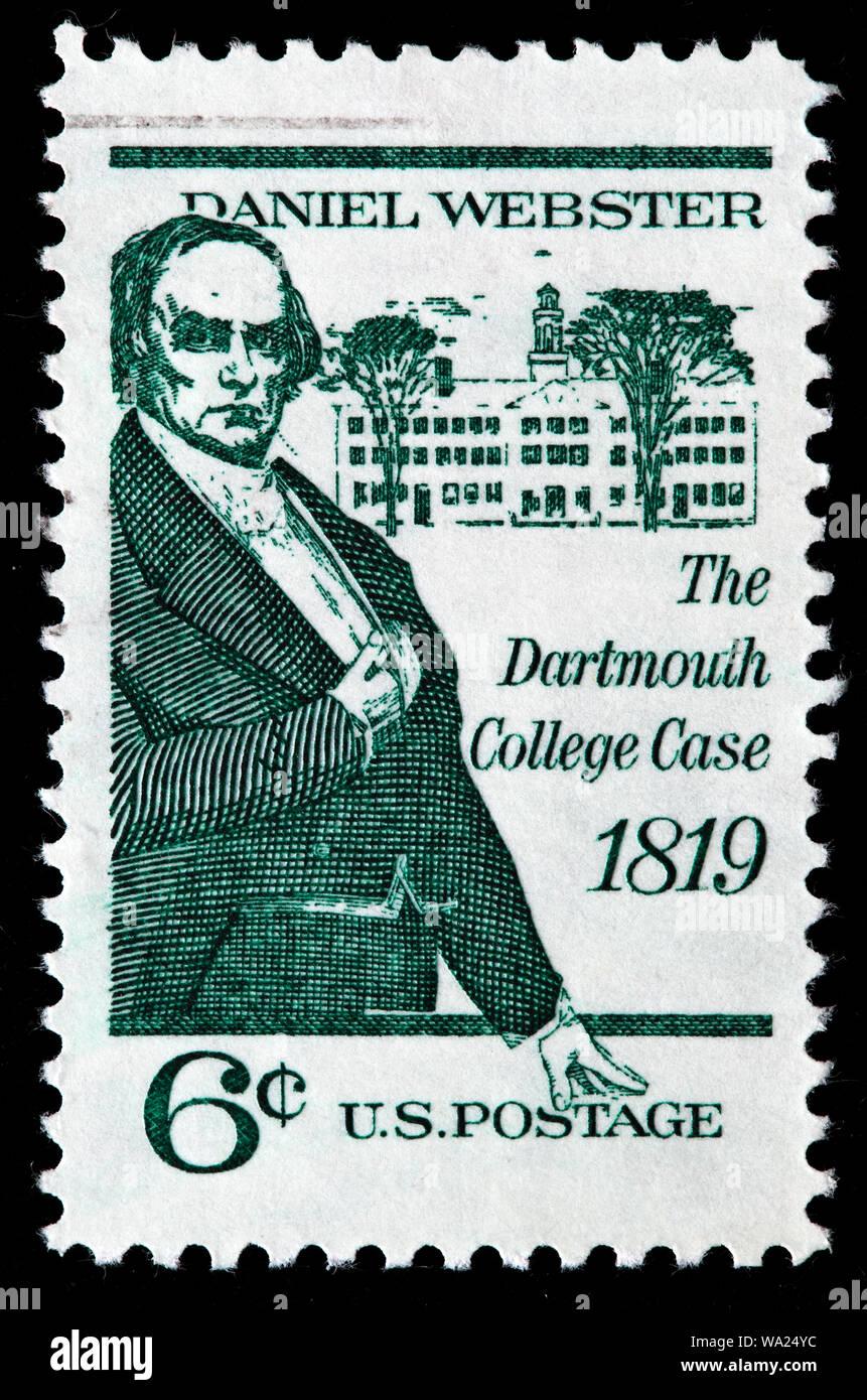 Daniel Webster (1782-1852), US Senator,     Dartmouth College Case, postage stamp, USA, 1969 Stock Photo