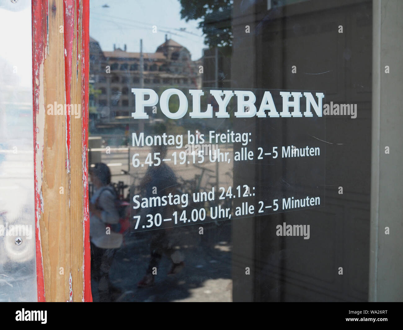 Polybahn Zürich Central Stock Photo