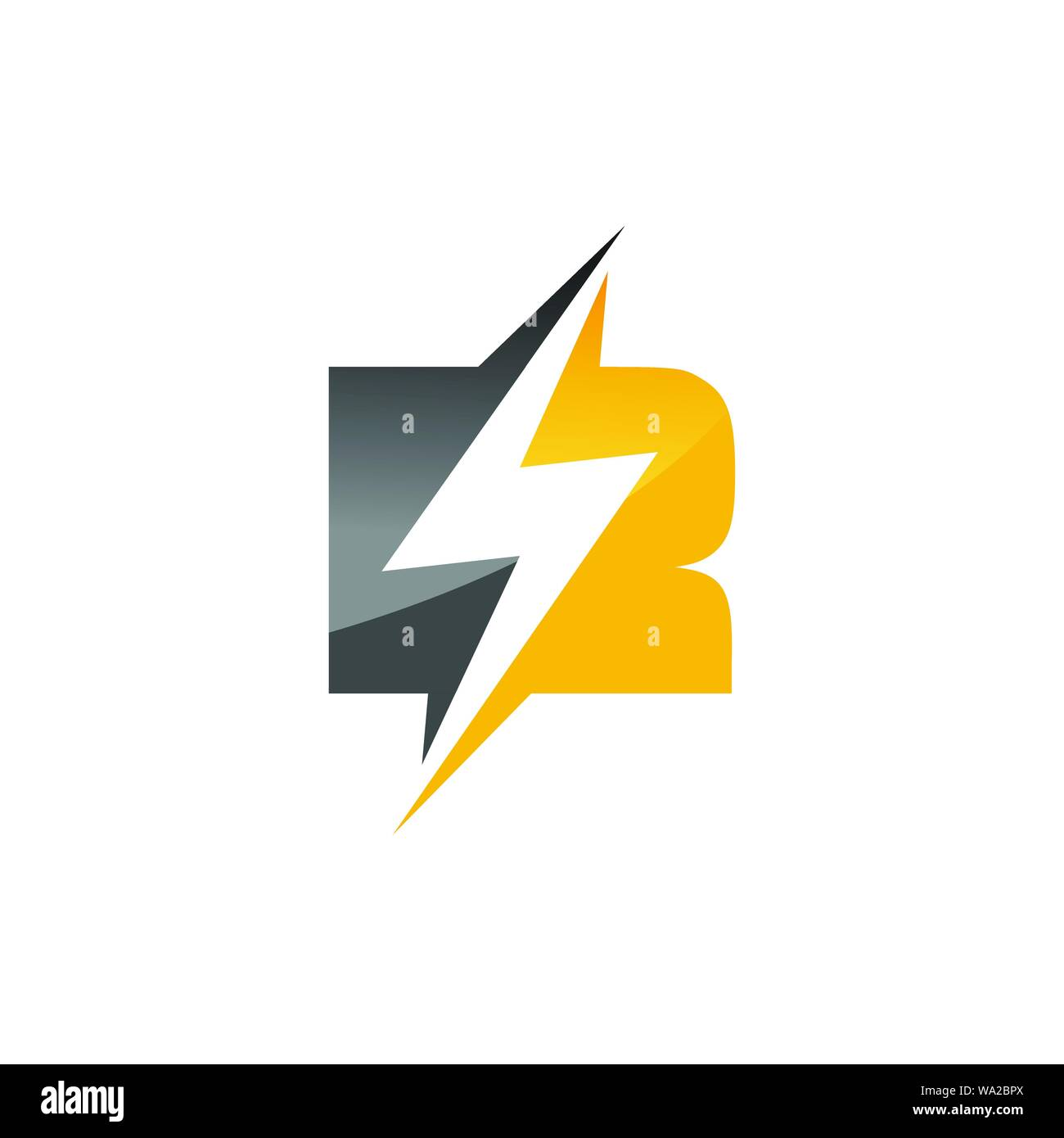 Initial Letter R Logo Template Lighting Bolt Design For Business And Company Identity Stock Vector Image Art Alamy