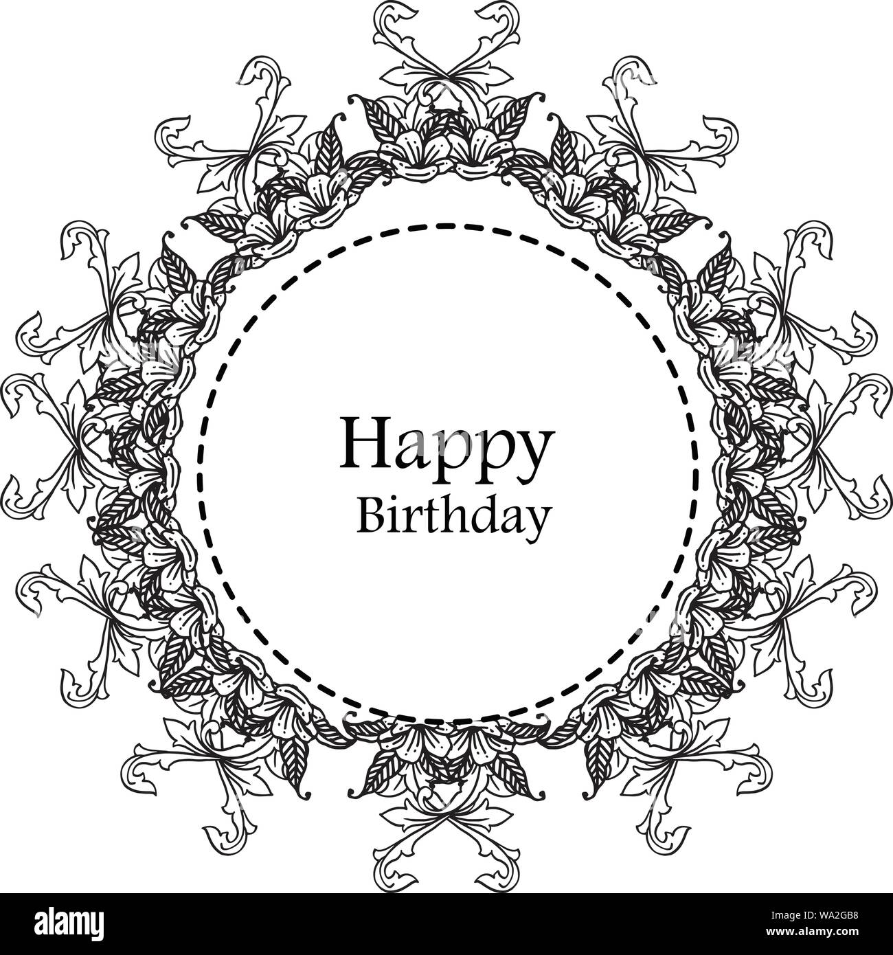 Happy Birthday Background Template Of Greeting Card