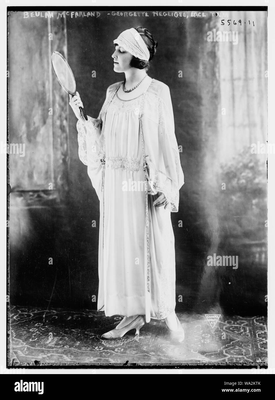 Beulah McFarland, Georgette negligee, lace Stock Photo