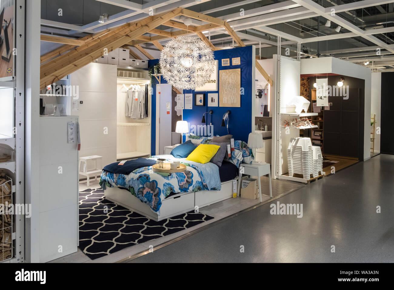 Ikea Room Display Set In Ikea Store Stock Photo Alamy