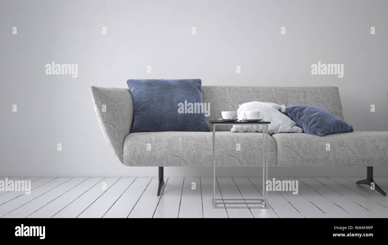 Admirable Modern Upholstered Grey Couch Or Day Bed With Comfy Cushion Squirreltailoven Fun Painted Chair Ideas Images Squirreltailovenorg