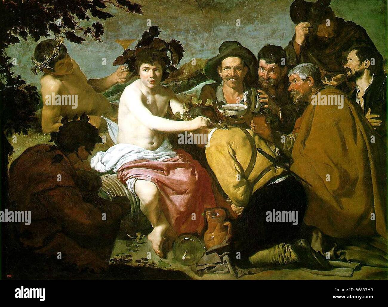 Diego Velasquez, Los Borrachos (The Feast of Bacchus). Stock Photo