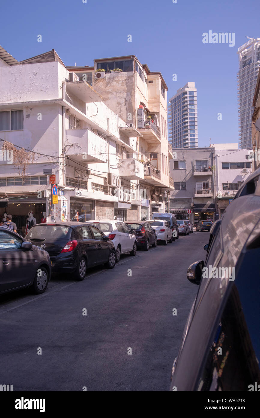 neighborhood of Florentin in southern Tel Aviv. Stock Photo