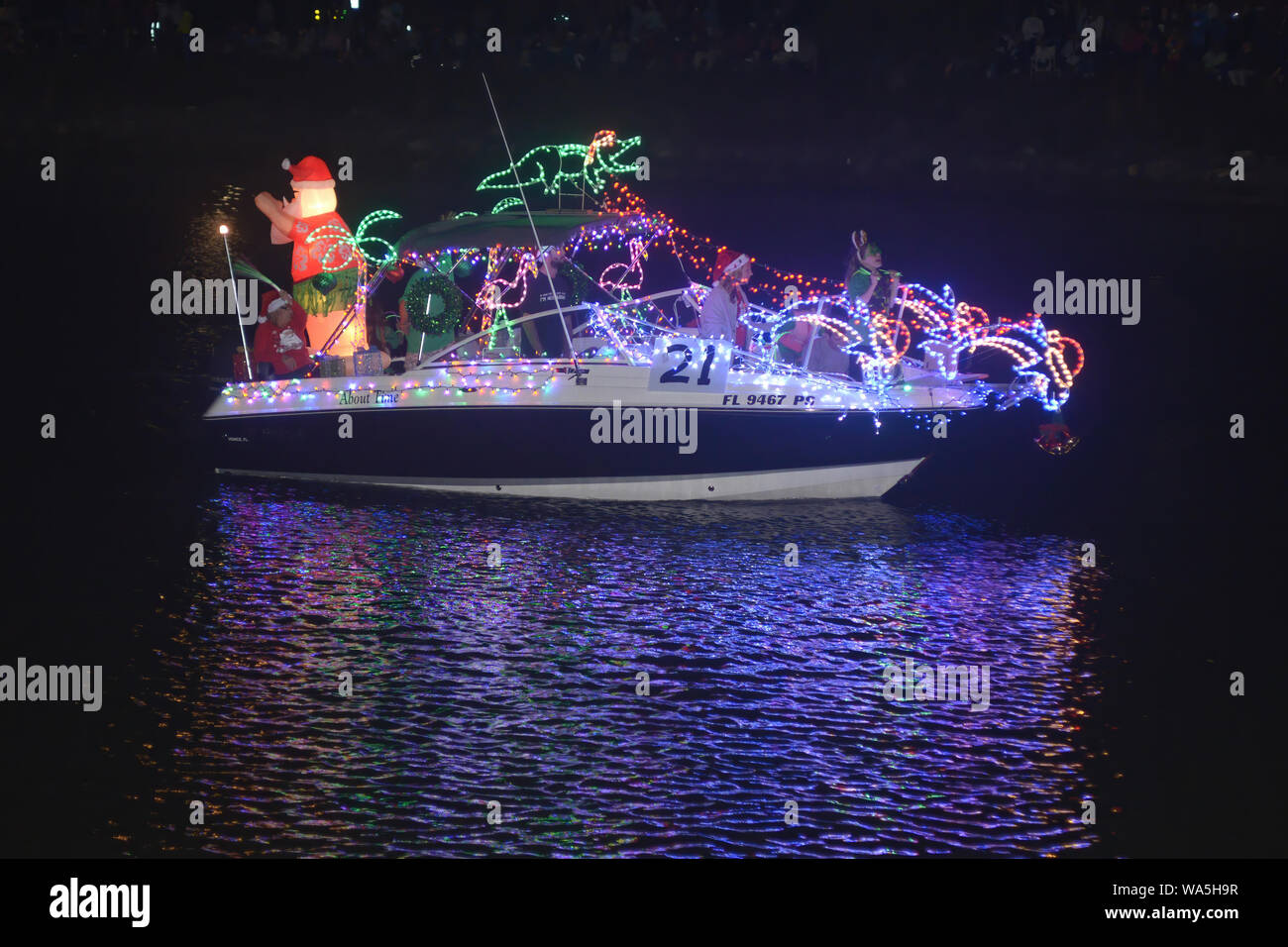 New Smyrna Christmas Boat Parade 2021 Christmas Boat Parade Florida High Resolution Stock Photography And Images Alamy