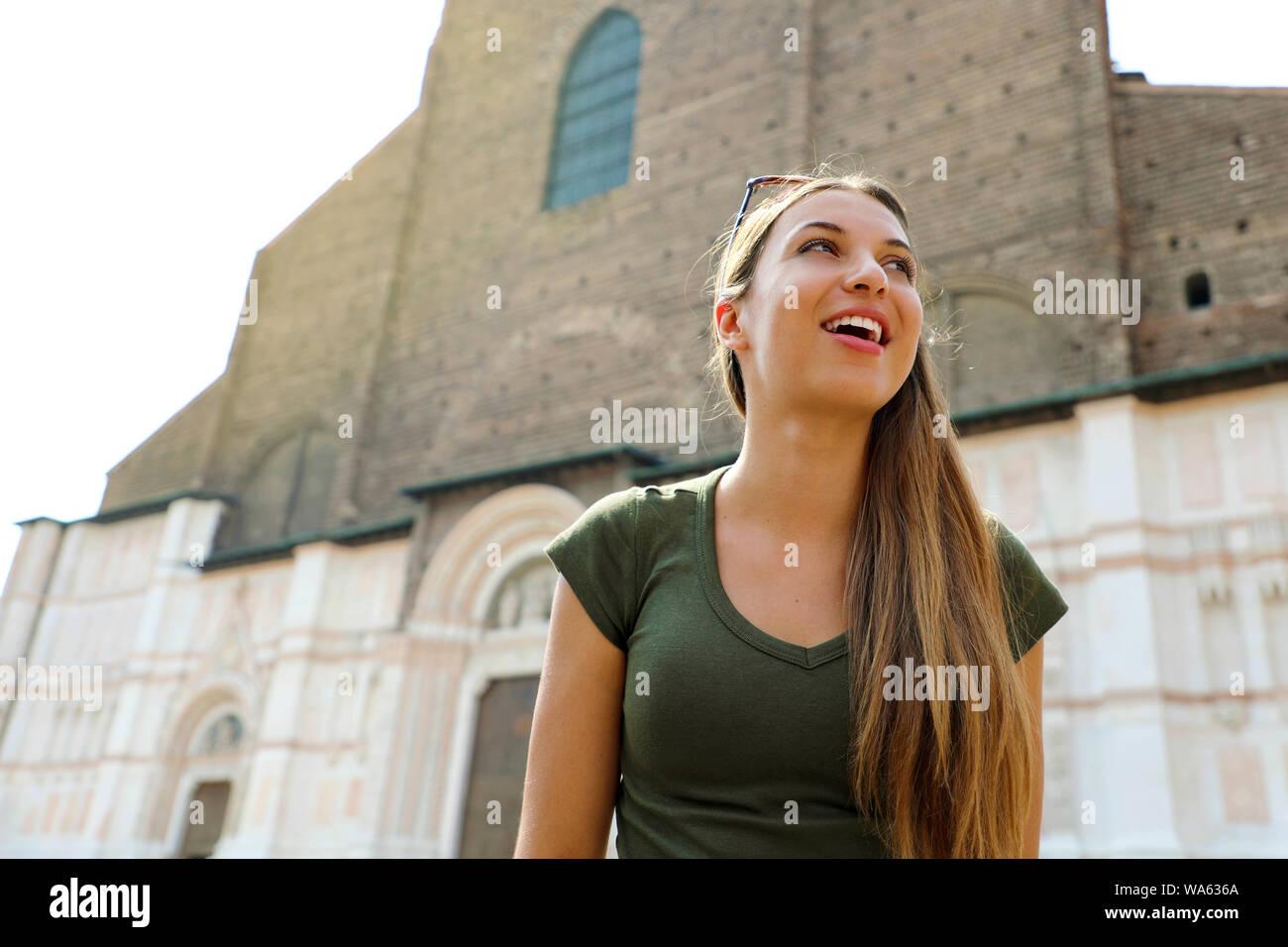 Very beautiful woman in italian
