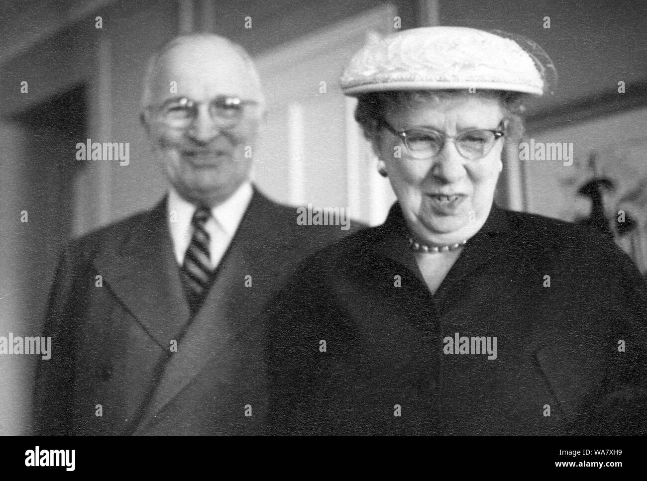 Former President Harry S. Truman and Bess Truman,1960 Stock Photo