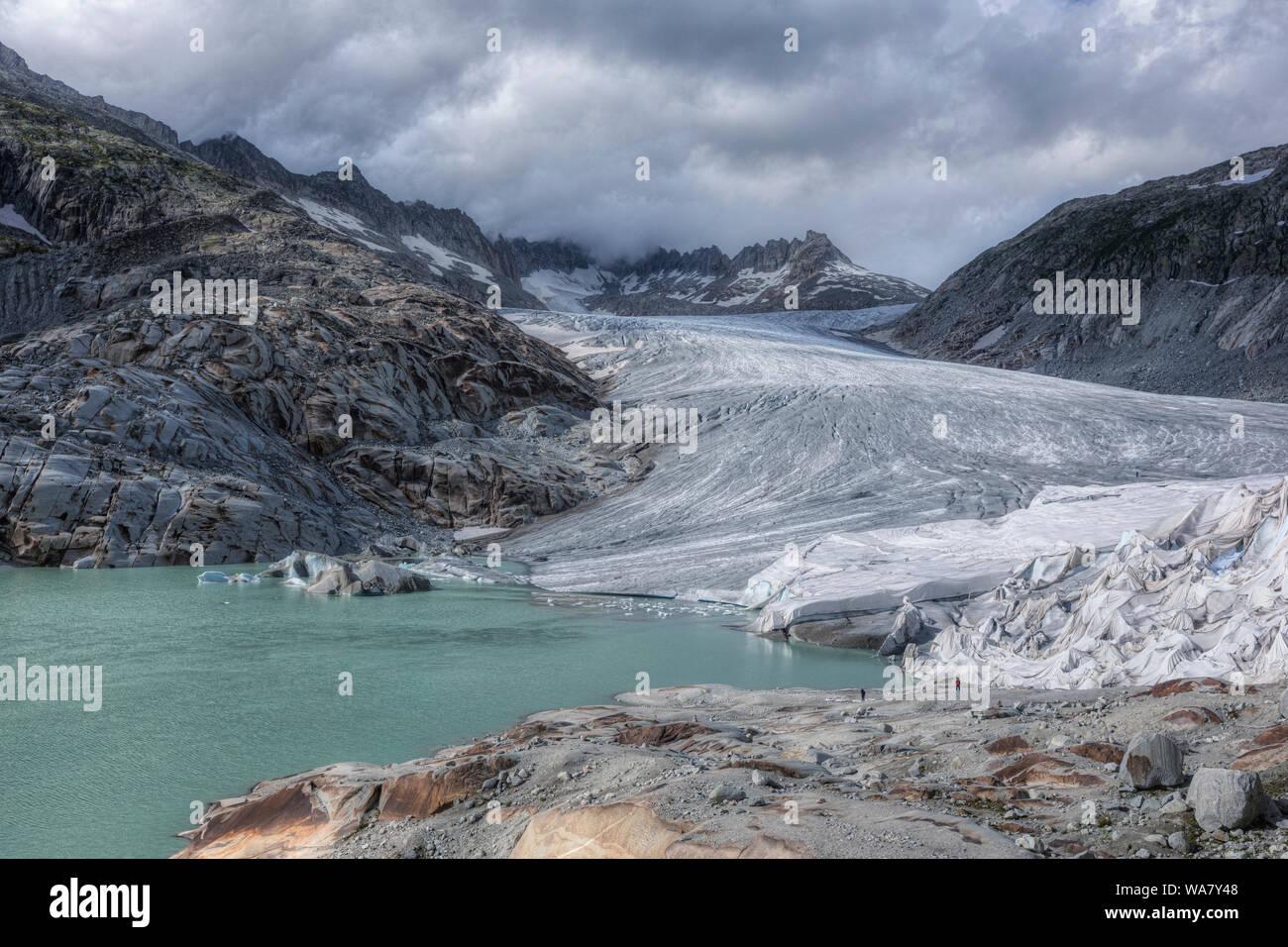 Rhone Glacier, Gletsch, Valais, Switzerland, Europe Stock Photo