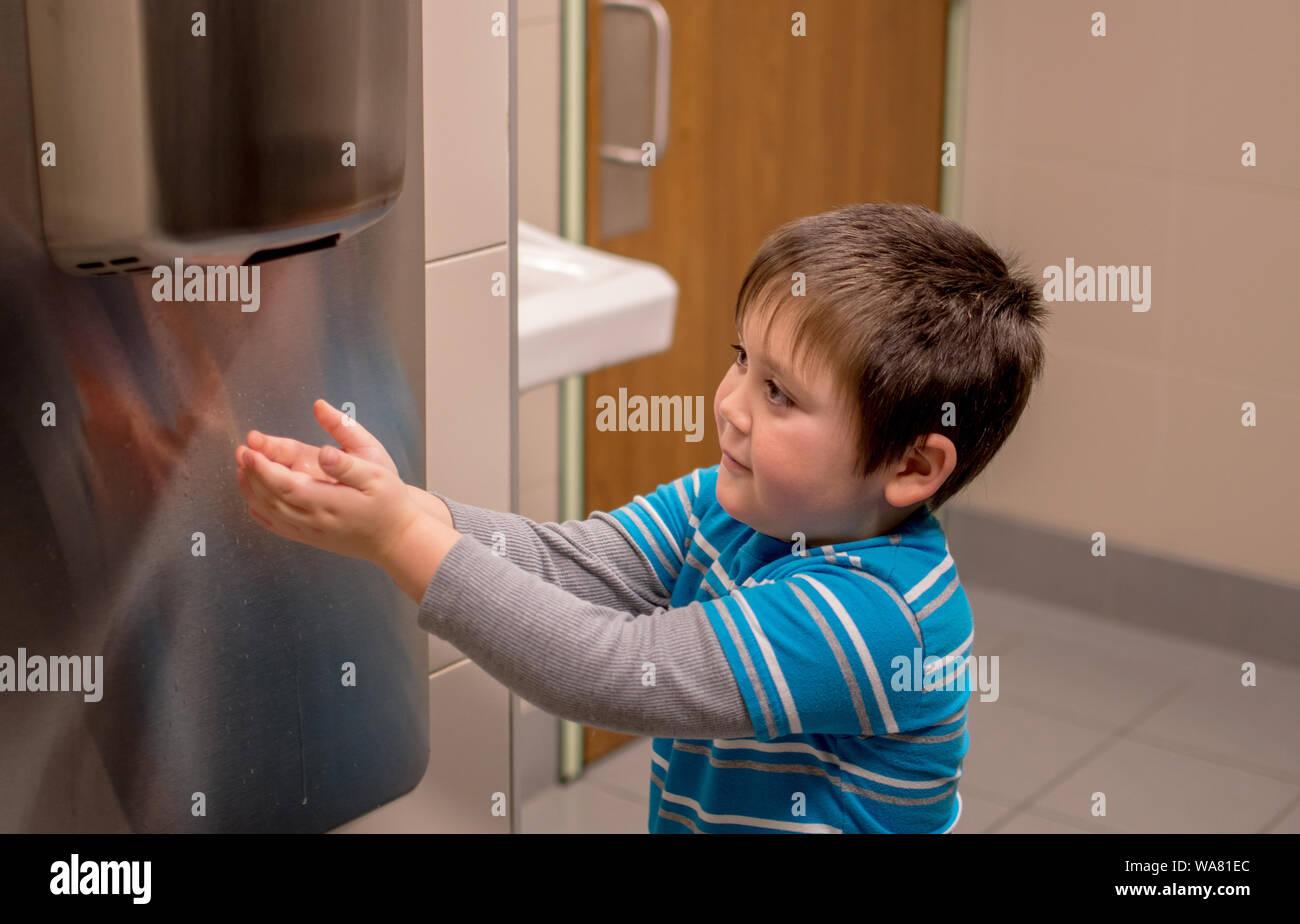 Hand Dryer Toilet Stock Photos Amp Hand Dryer Toilet Stock