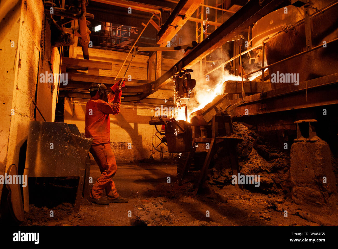 Chamberlin and Hill Castings in Walsall, West Midlands, UK. The company specialises in steel castings for the automotive industry Stock Photo