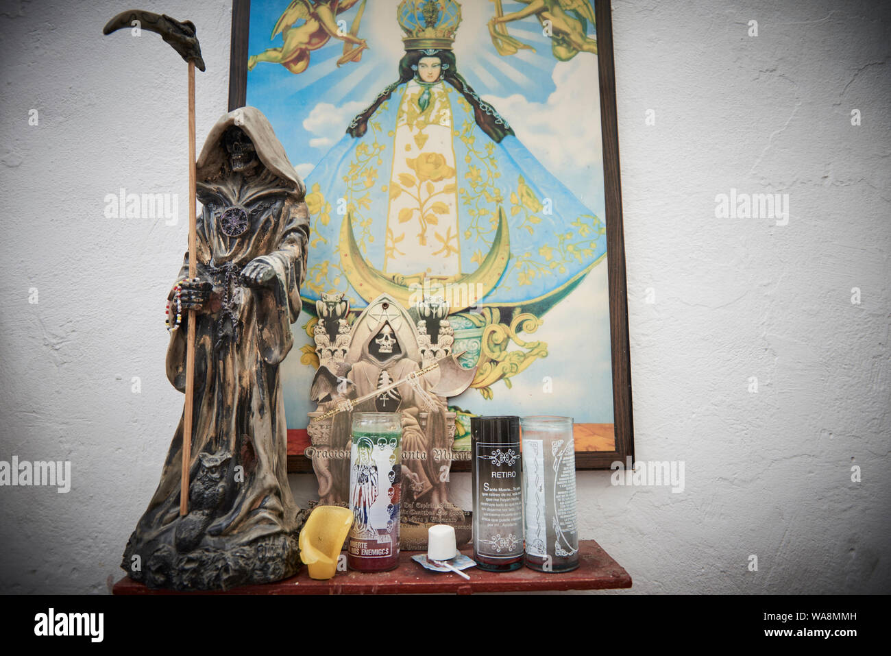 Santa Muerte Shrine Stock Photos & Santa Muerte Shrine Stock