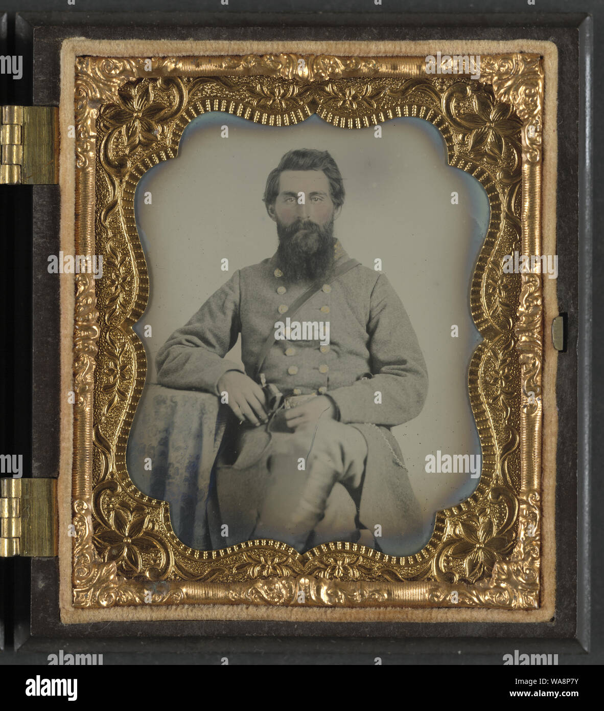 Captain Joel Houghton Abbott of Co. K, 22nd Virginia Infantry Regiment, and Co. H, 8th Virginia Cavalry Regiment Stock Photo
