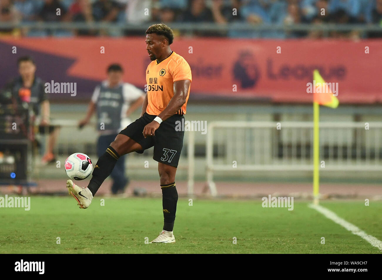 Spanish Football Player Adama Traore Of Wolverhampton Wanderers F C Of English League Champions Dribbles Against Newcastle United F C In The Semifin Stock Photo Alamy