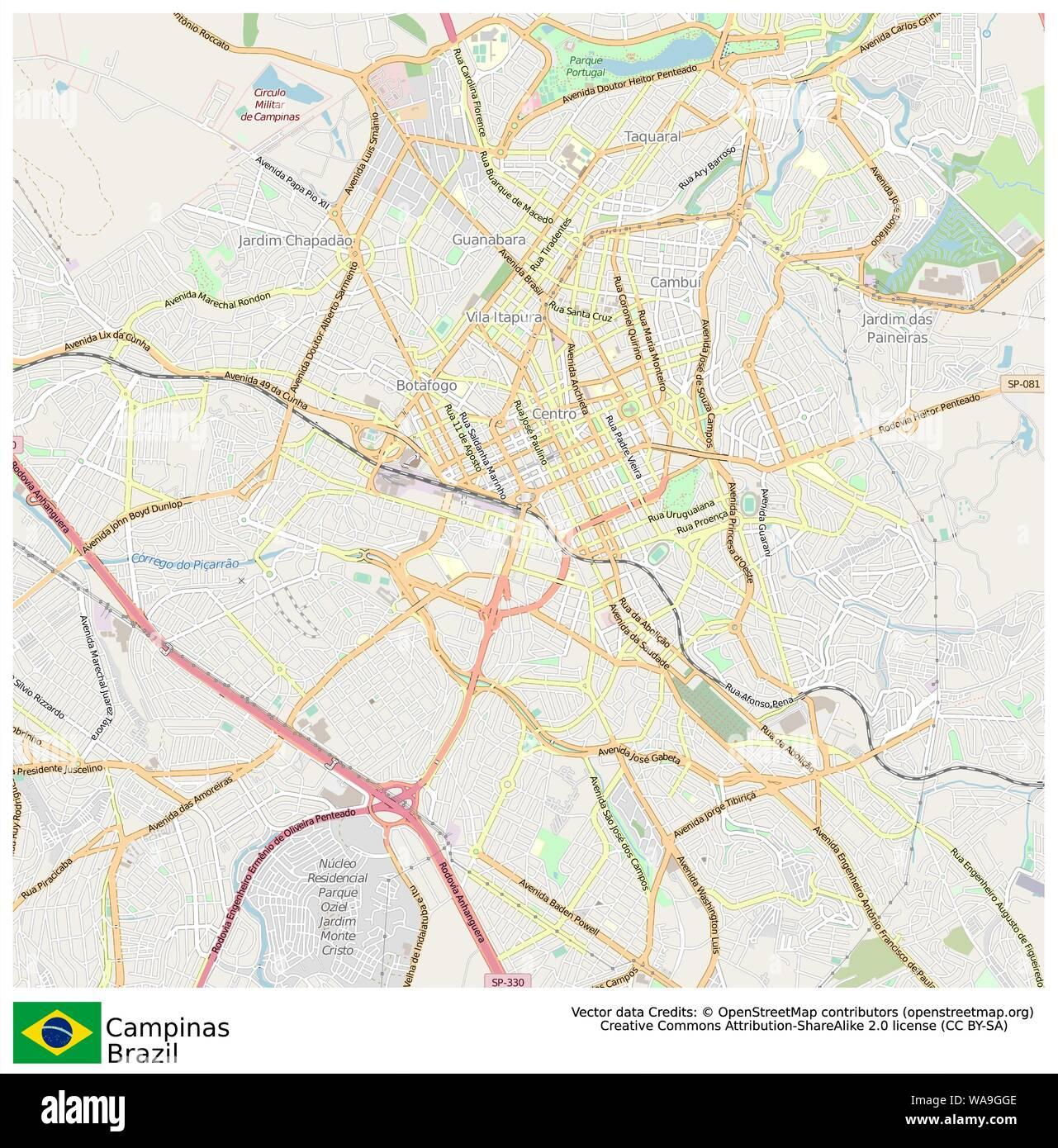 Campinas,Brazil,Sud America Stock Vector