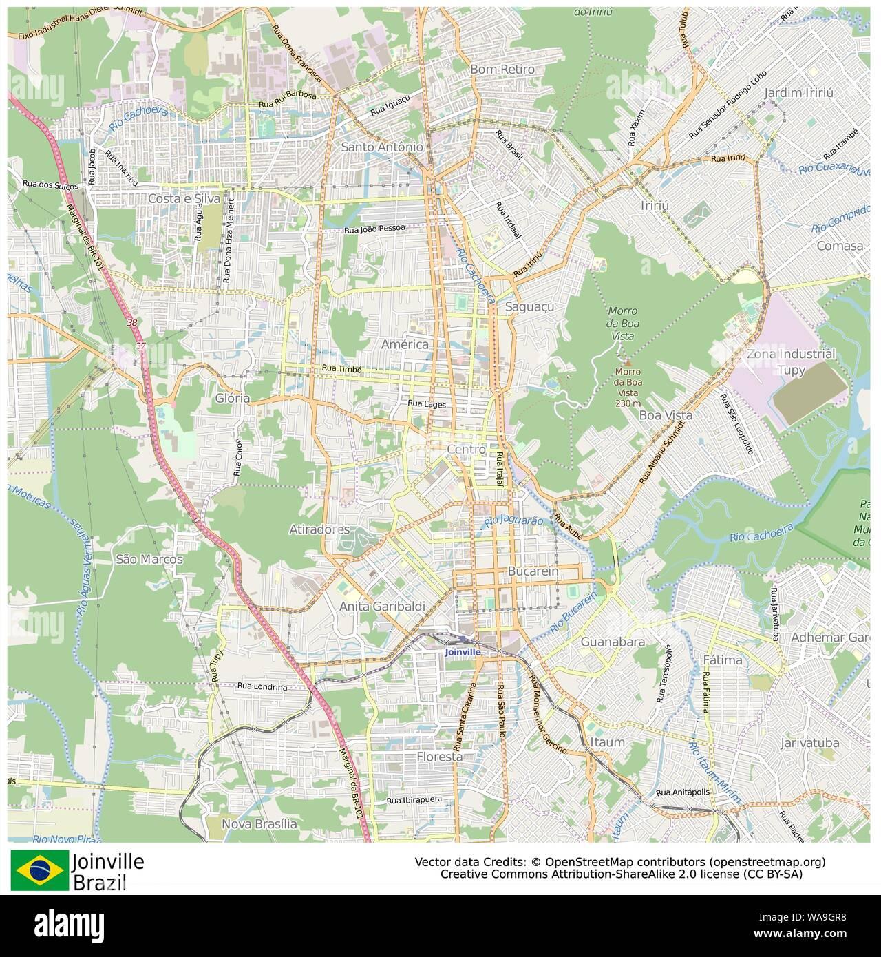 Joinville,Brazil,Sud America Stock Vector