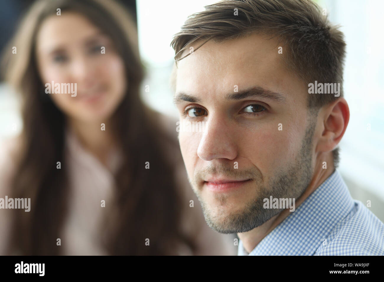 Smart businessman at negotiations Stock Photo