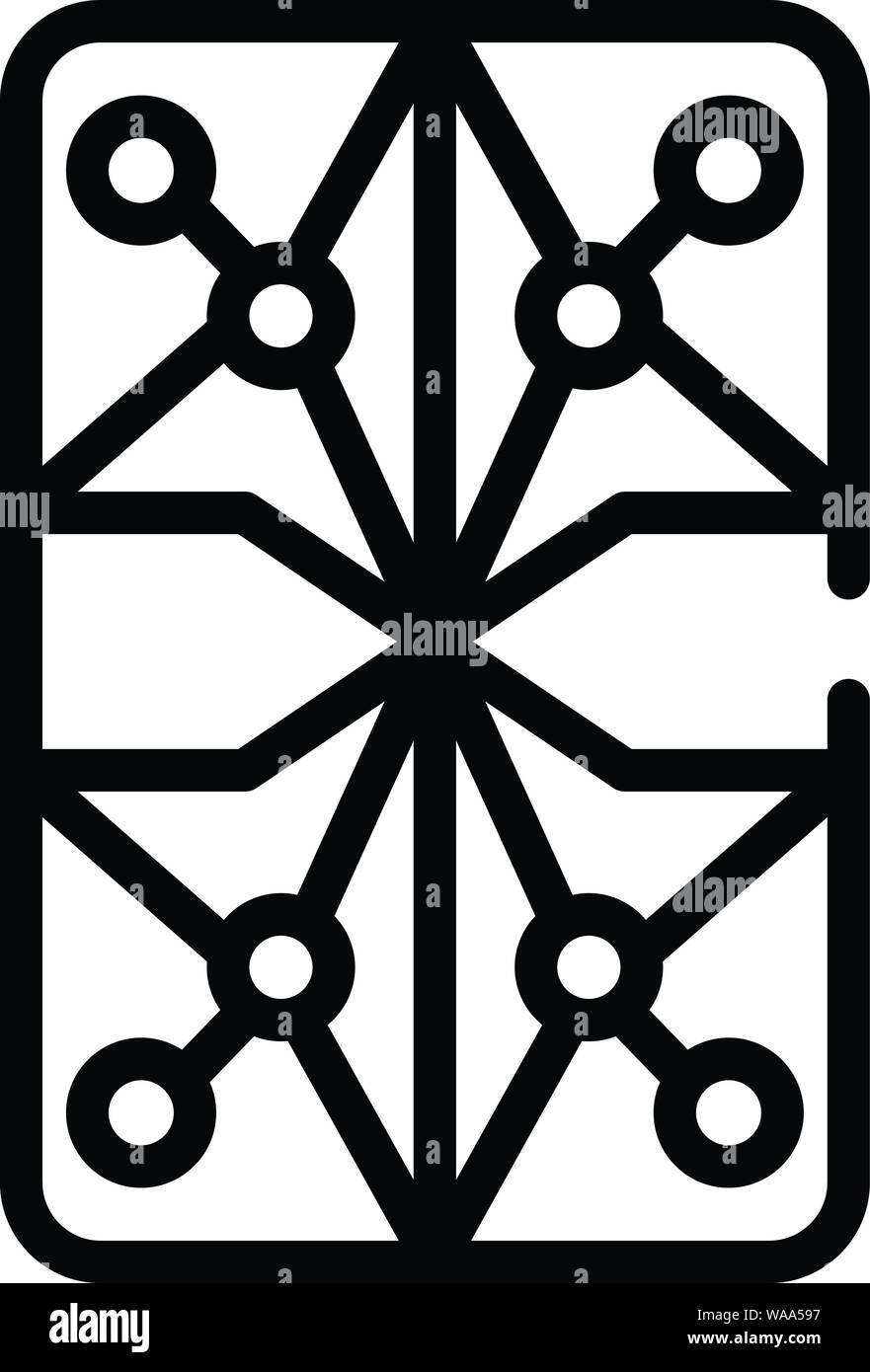 Persian Rug Icon Outline Style Stock Vector Art
