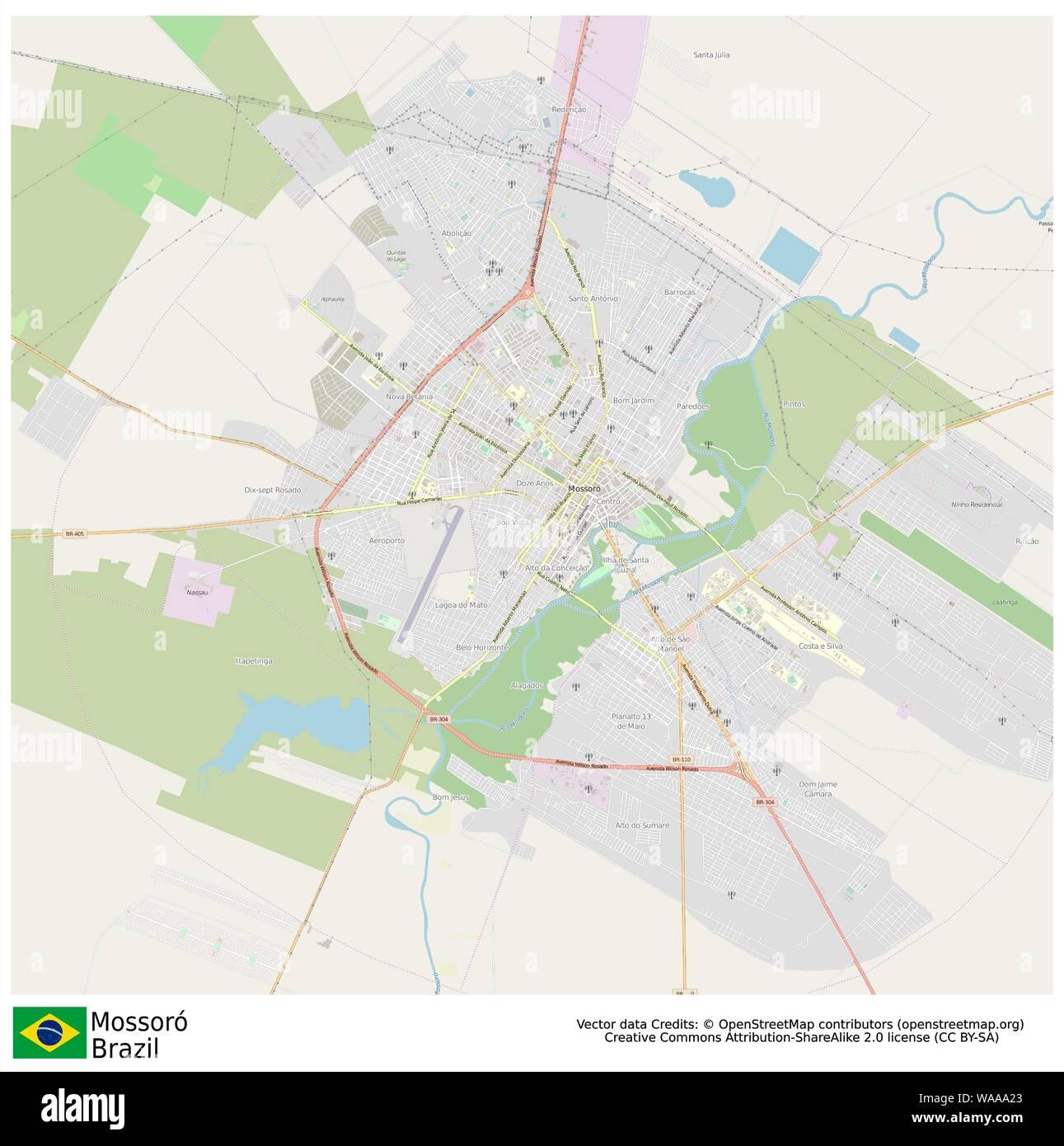 Mossoro,brazil,sud america Stock Vector