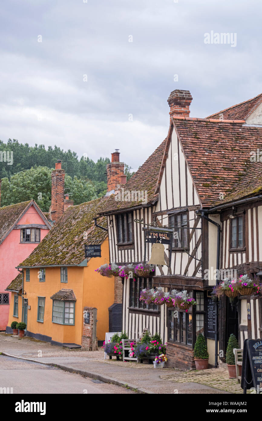 The picturesque timber-framed village of Kersey, Suffolk, England, UK Stock Photo