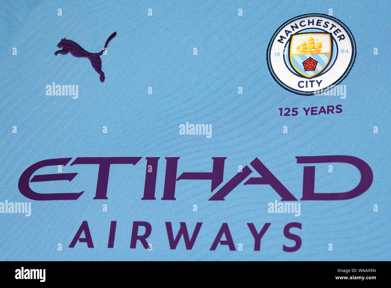 Close Up Manchester City Insignia High Resolution Stock Photography And Images Alamy