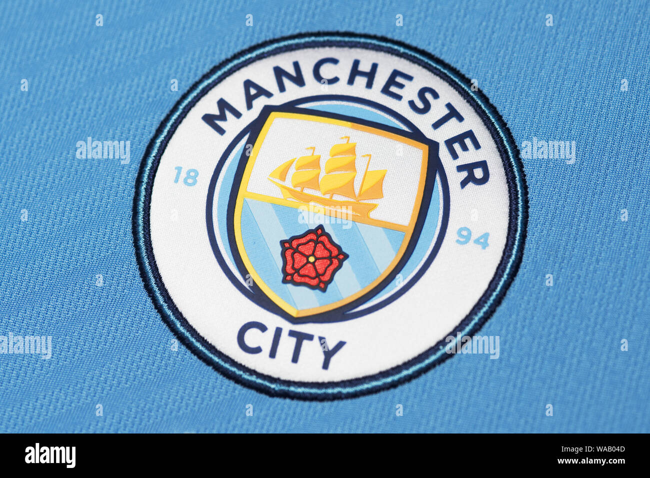 Manchester City Football Club Badge High Resolution Stock Photography And Images Alamy