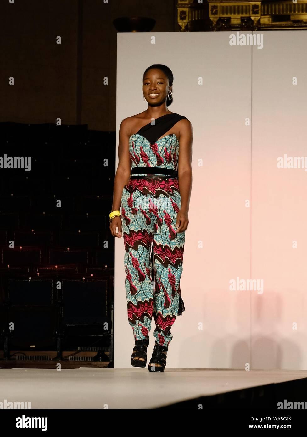 Sherah Designer On The Catwalk At Africa Fashion Week London 2019 Held At The Freemason S Hall Stock Photo Alamy