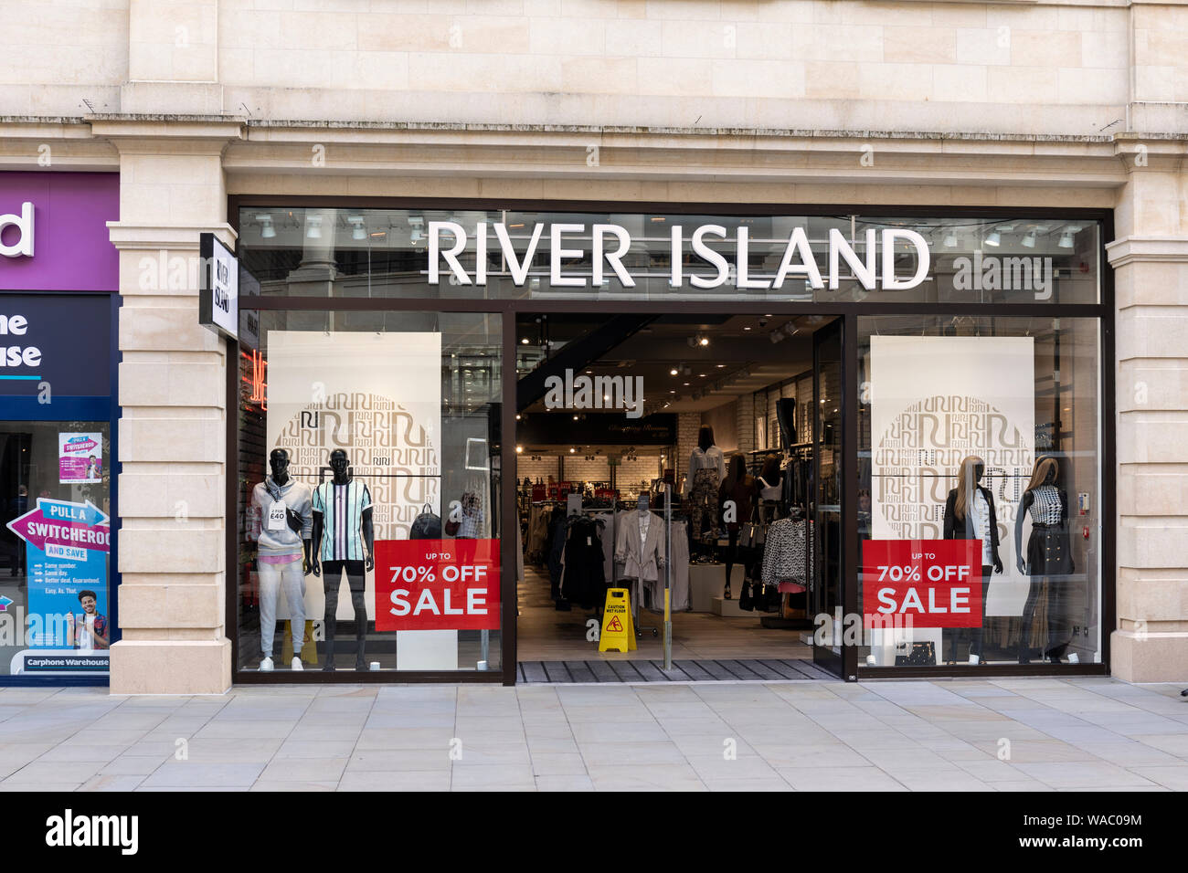 River Island Store, SouthGate shopping centre, Bath UK Stock Photo