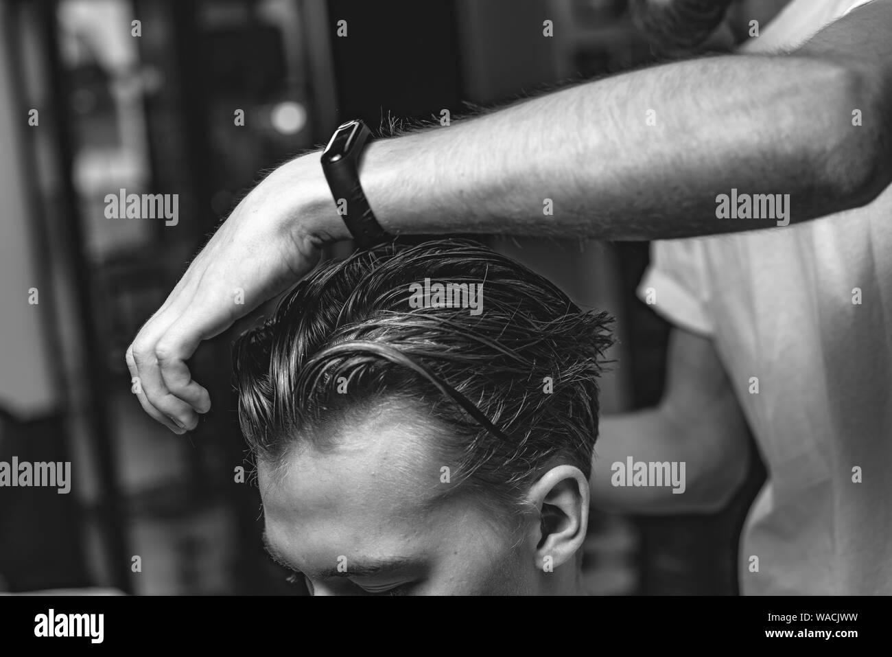 Hair Salon Black And White Stock Photos Images Alamy
