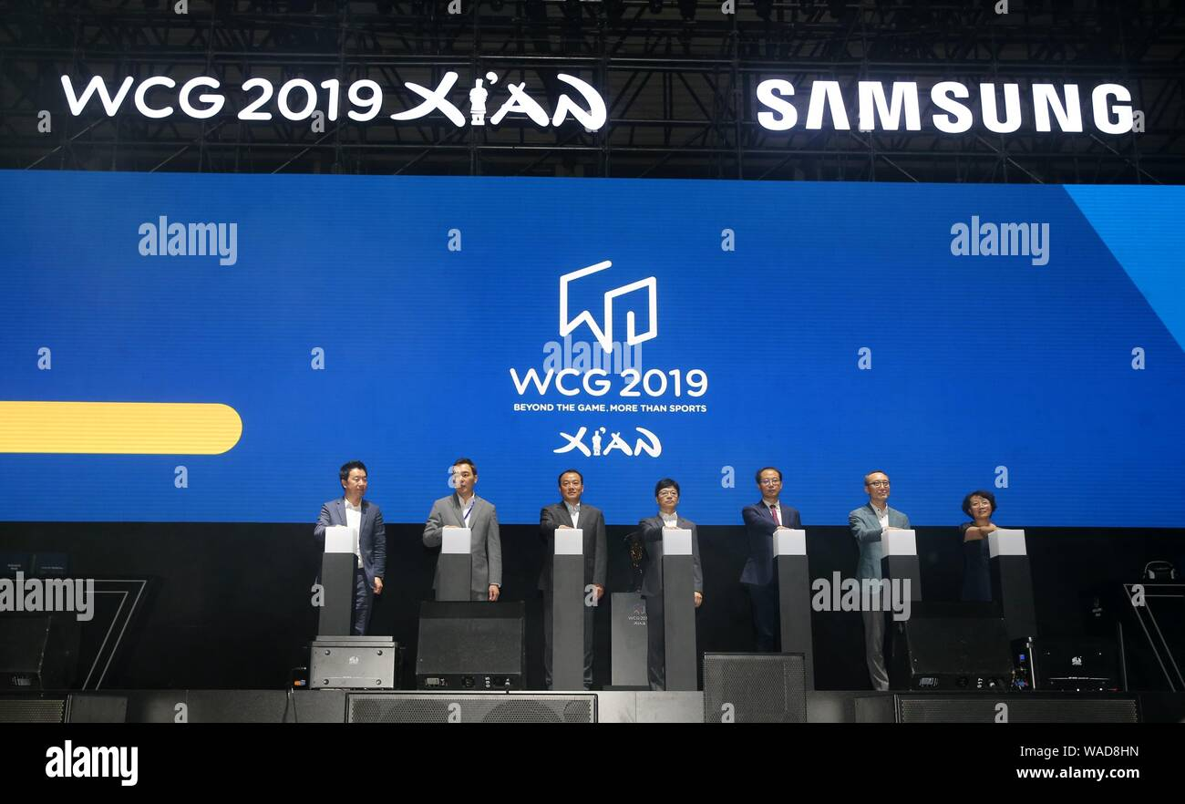 The WCG 2019 finals is launched in Xi'an city, northwest