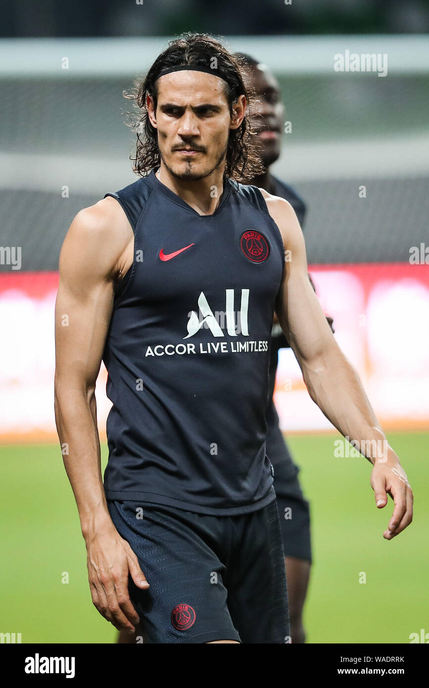 Edinson Cavani Front And Teammates Of Paris Saint Germain Take Part In A Training Session To Prepare For The Upcoming Match Of The International Sup Stock Photo Alamy