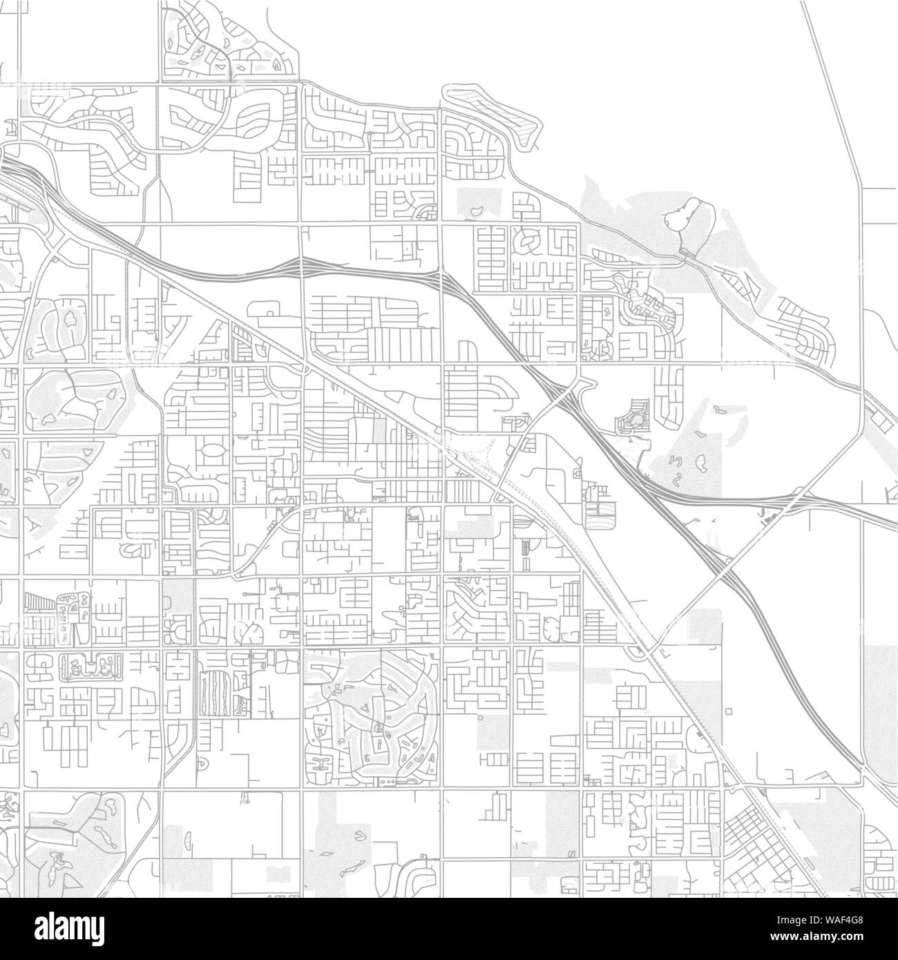 Indio, California, USA, bright outlined vector map with ...
