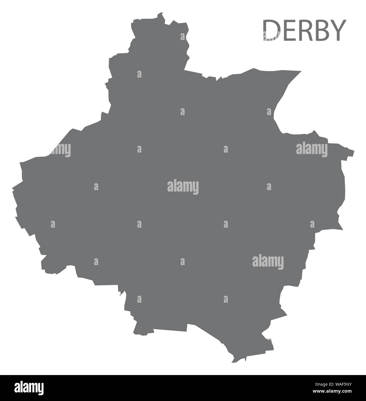 Map Of Uk Derby.Derby Grey District Map Of East Midlands England Uk Stock Vector Art