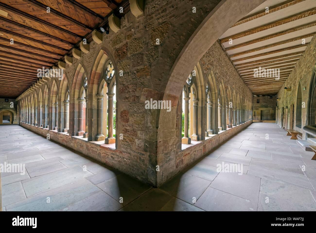 Cloister, Museum Unterlinden, Colmar, Alsace, France Stock Photo
