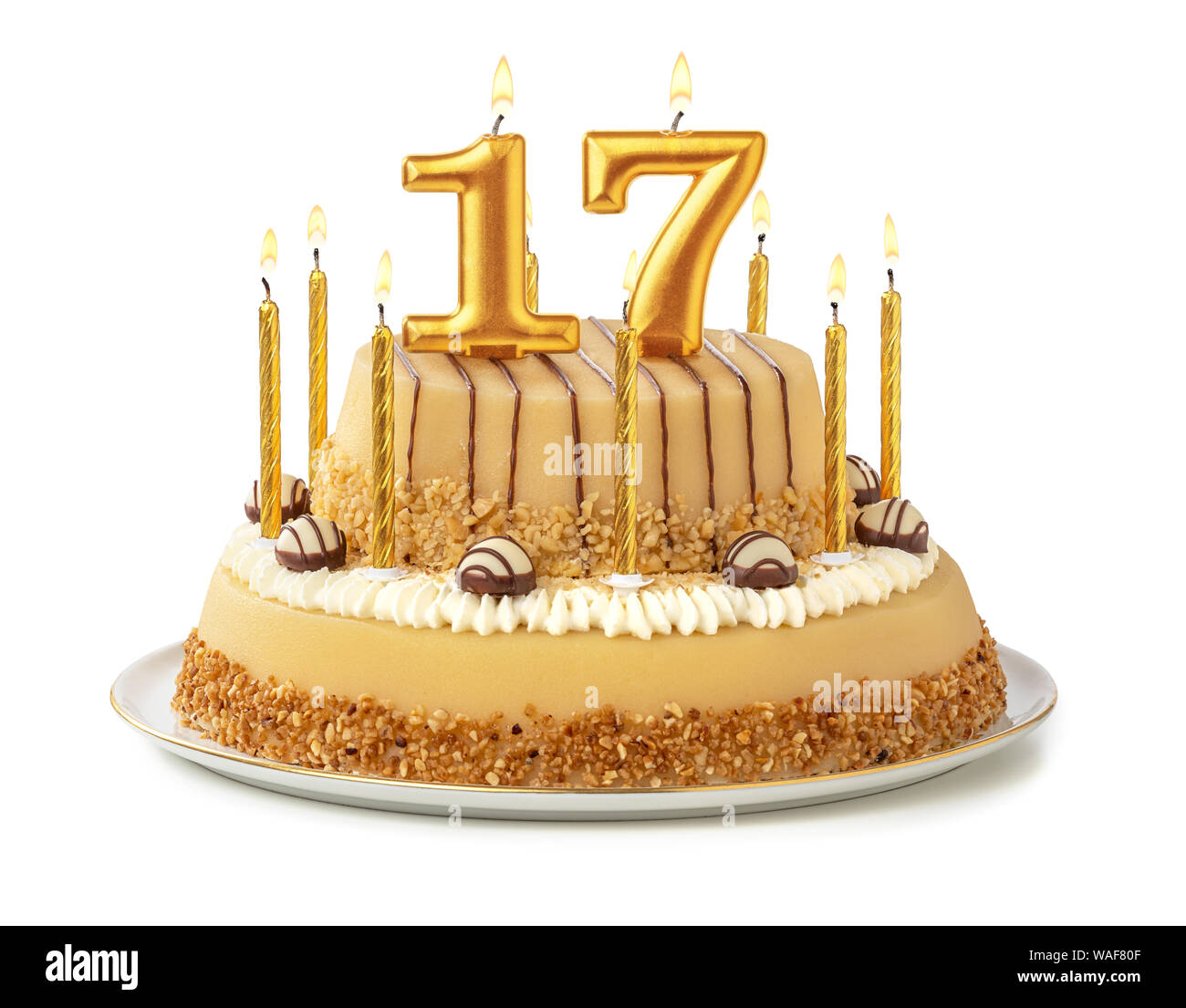 Cool 17Th Birthday Candle Stock Photos 17Th Birthday Candle Stock Personalised Birthday Cards Paralily Jamesorg