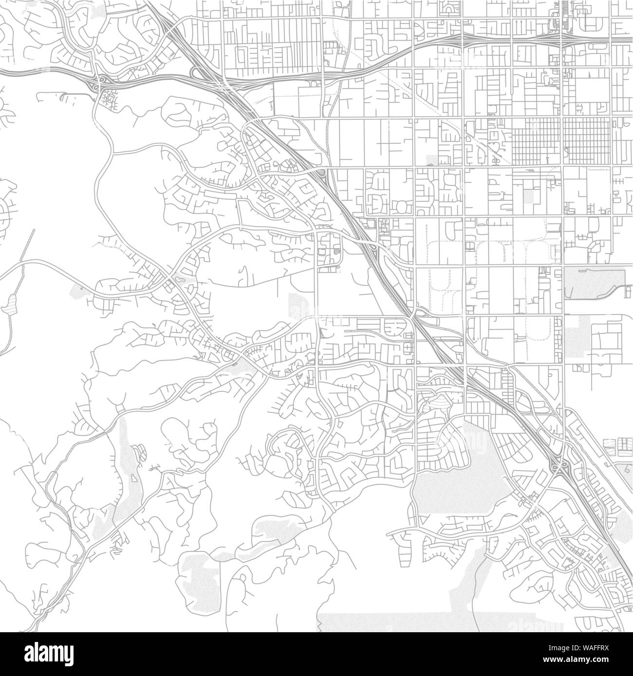 Chino Hills California Usa Bright Outlined Vector Map