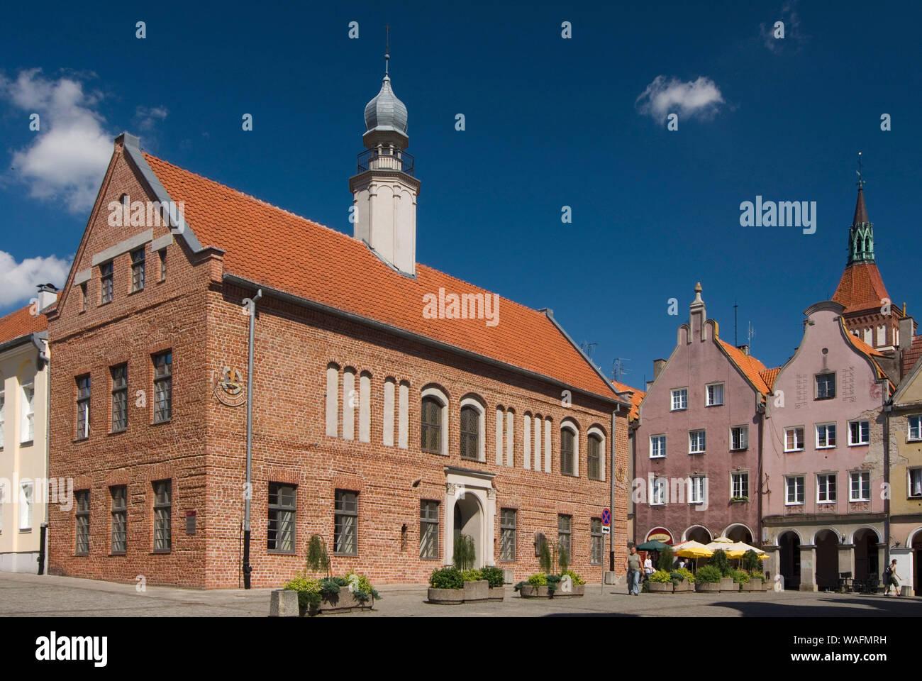 Olsztyn, biggest town of the Warmian-Masurian Province, North-Eastern Poland. old town hall 2007 phot. Renata and Marek Kosinscy/FORUM  *** Local Caption *** Stock Photo