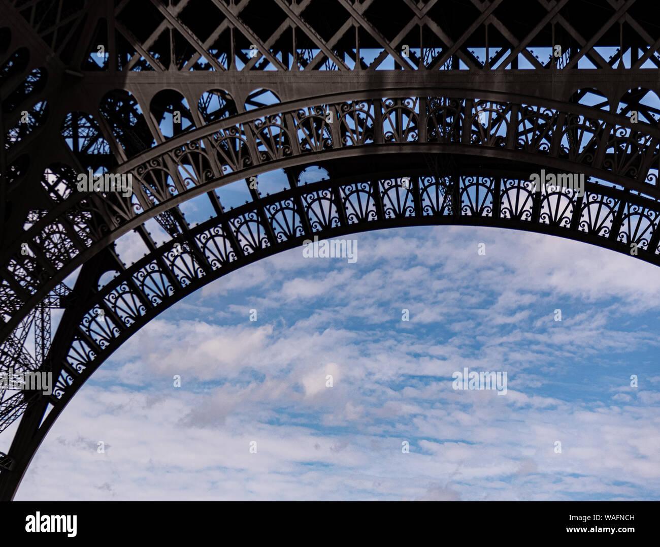 Eiffel Tower Paris France summer 2019 Stock Photo