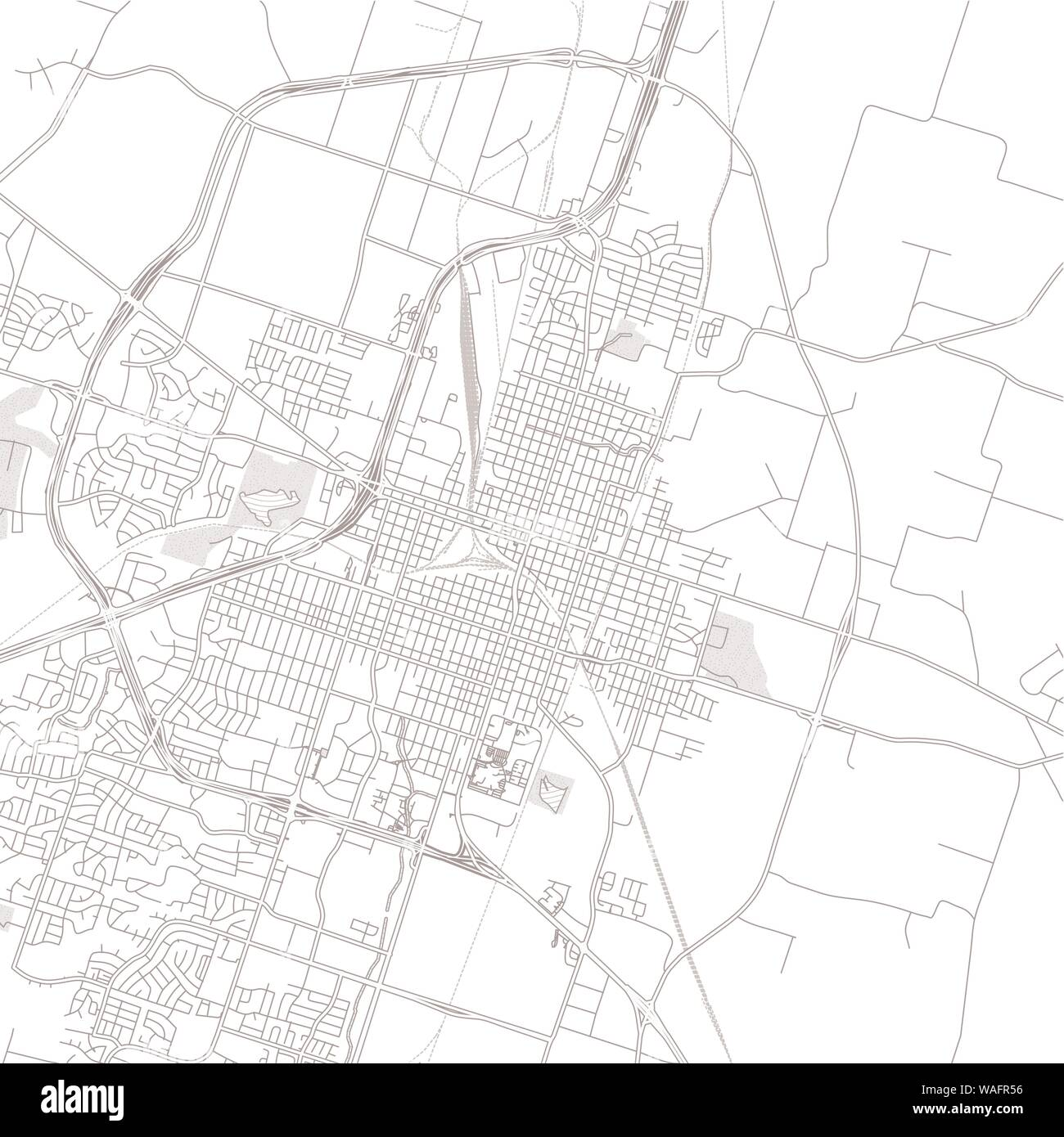 Temple Texas Usa Bright Outlined Vector Map With Bigger And