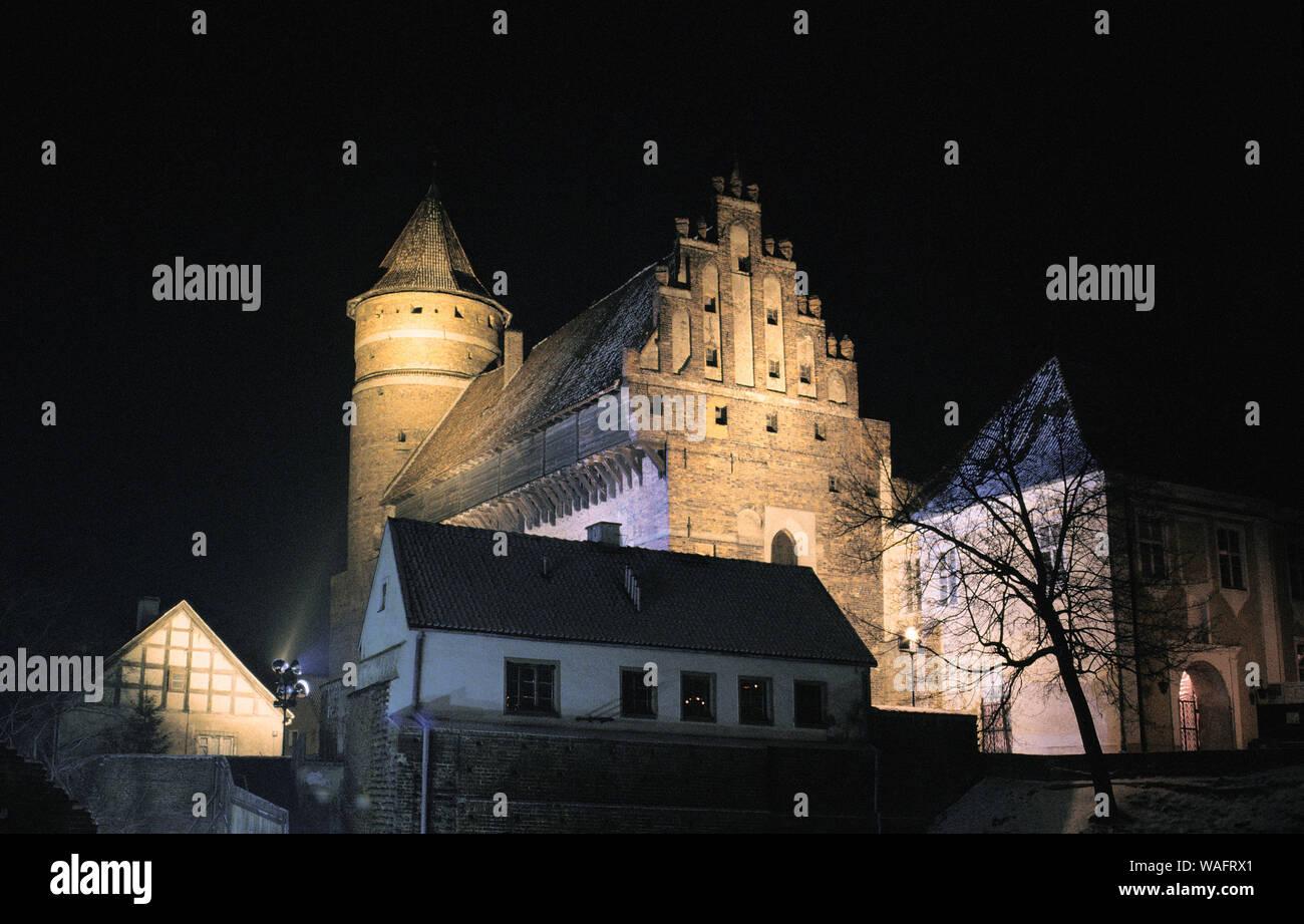 Olsztyn, biggest town of the Warmian-Masurian Province, North-Eastern Poland. Warmian chapter castle, 14th century. Astronomer Nicolas Kopernikus used to be one of the trustees of the castle. 2005 phot. Pawel Szadkowski/FORUM Stock Photo